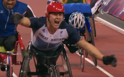 David Weir wins gold in the 2012 1500m Paralympics